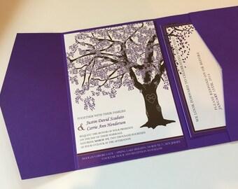 Grandfather Oak Tree Wedding Invitations, You Print, Customized