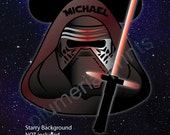 Disney Inspired Kylo Ren Mouse Head Magnet for Disney Cruise