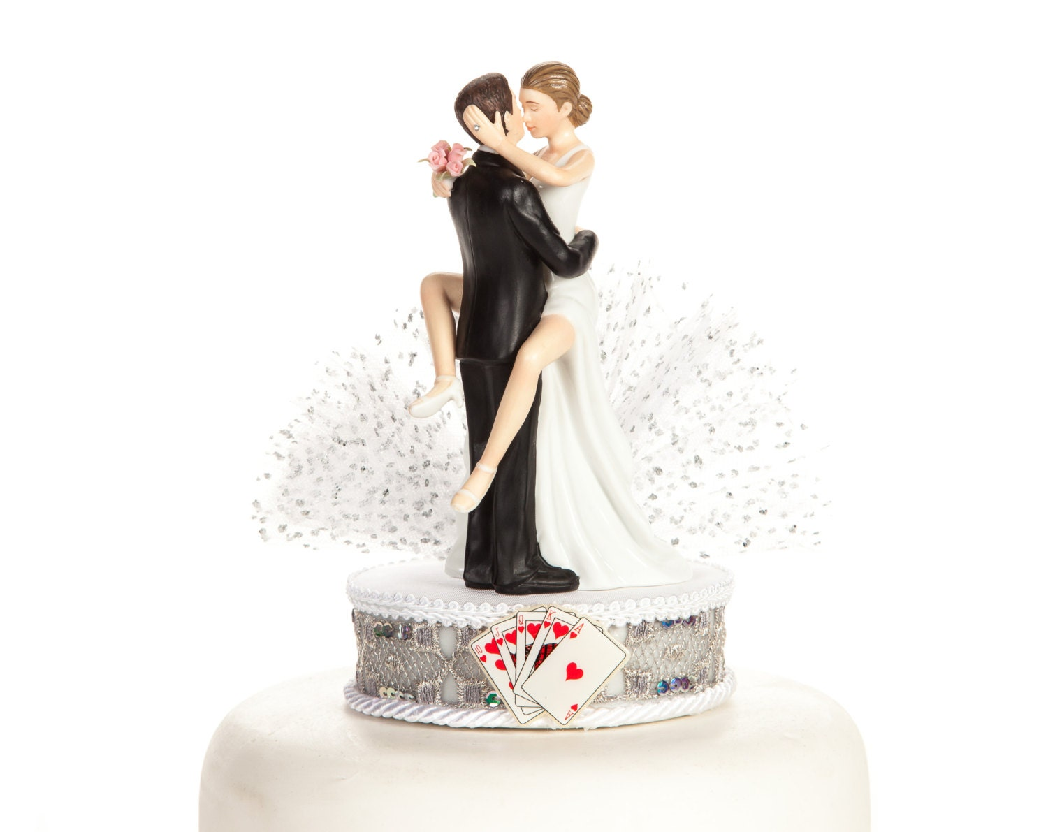 las vegas wedding cake topper las vegas wedding cake topper custom painted hair 16725