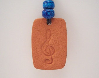 Aromatherapy Diffuser Jewelry - Musical Note Necklace - with or without Essential Oil of Your Choice