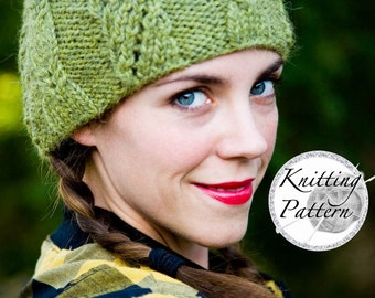 Knitting Pattern for Women's Cable Hat - The Frisco