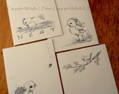 """Litchfield Hill Notepaper Stationery by Michelle L. Palmer 4.25"""" x 5.5"""" All Around the Nest Spring 40 pages"""