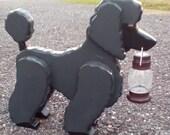 Poodle dog solar light, garden  dog, path light  changing color solar light