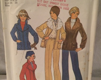 Simplicity 7193 Jacket with Detachable Collar and Pants Size 14 and 16