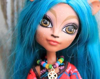 Tribal Native Wood Bead Dream Catcher Charm Doll Jewelry Set Necklace & Bracelet for Female Petite Slimline dolls Monster Fairytale