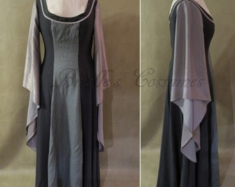 SALE Gray and Silver Elf Dress size M