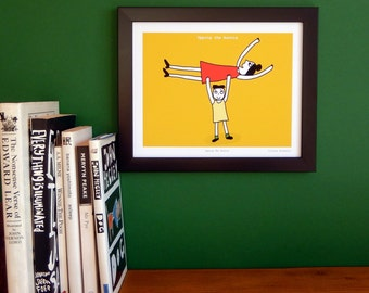 Humorous art print for the home 'Upping The Auntie'