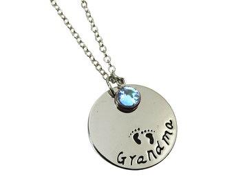 Grandma Necklace - Personalized, It's a boy, It's a girl, grandchildren, grandmother