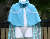 Elsa inspired Warm Fleece Capelette, with separate train