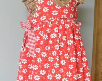 Girls Dress and Pinafore PDF Sewing Pattern ... Tabitha Dress & Pinafore with sleeve options