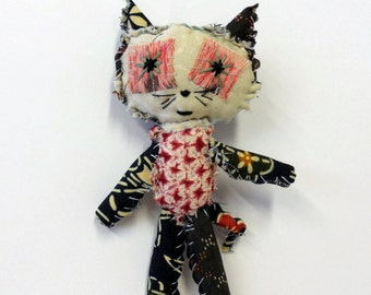 kimono kitty cat textile animal