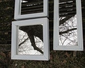Upcycled Mirrors Set of 3 Small White Deep Frames