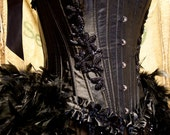 TWILIGHT Black Swan Steampunk gypsy Corset Costume dress EVERYTHING INCLUDED