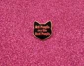 Black Cat Pin - Cat Pin - Rose Gold Pin - Enamel Cat Pin - Cat lapel pin - Cat jewellery - Cat Gifts - Cat Lady - Christmas Gift