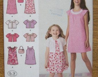 2010 simplicity pattern 2270 girls childs dress jacket bag sz 7-14 uncut