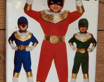 1996 butterick pattern 4659  POWER RANGERS costume  sz XS-L  (4-14) boy girl  uncut
