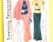 1930s Simplicity 1664 Genuine Vintage Cape, butterfly sleeve blouse, skirt Vintage Sewing Pattern Bust 34