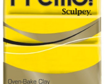 CADMIUM YELLOW HUE Premo! Sculpey Oven-Bake Polymer Clay, 2 oz, Polymer Clay