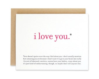 Printable / Funny Love Card / I Love You Valentine Card
