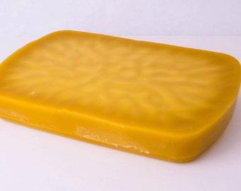 1-Pound Bulk Beeswax Block for soap making, lipbalm making, candle making, woodworking, sewing