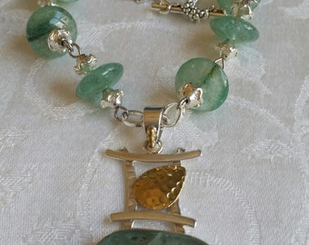 Summer Breeze                 Green Apatite Necklace