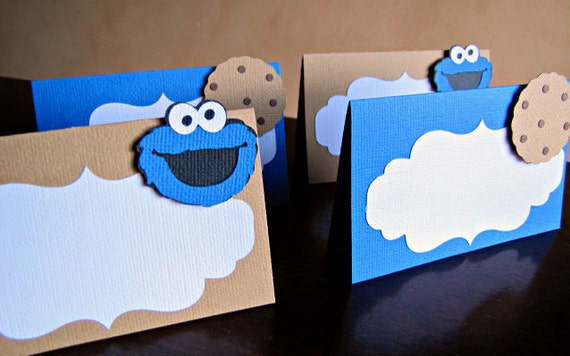 Cookie monster place cards cookie monster food labels cookie il570xn bookmarktalkfo Choice Image
