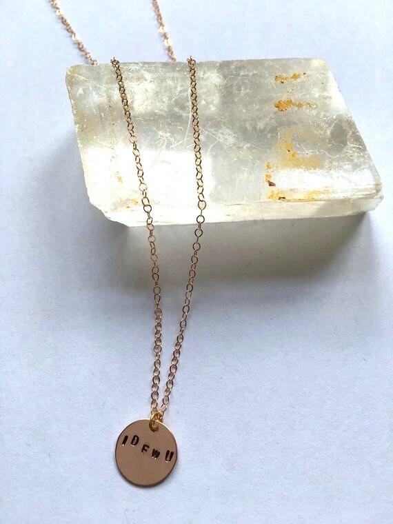 Big Sean IDFWU Rose Gold Necklace