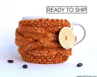 Coffee Mug Cozy, Coffee Cozy, Coffee Cup Cozy, Coffee Sleeve, Tea Cozy, Coffee Cup Sleeve, Pumpkin Spice, Rustic Gifts, Coffee Decor
