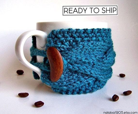 Coffee Cup Cozy, Coffee Cup Sleeve, Coffee Sleeve, Coffee Cozy, Tea Cozy, Coffee Mug Cozy, Coffee Coozie, Knit Mug Sweater, Mug Warmer