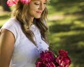 Camile Floral Crown Silk ...
