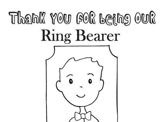 ring bearer coloring page wedding coloring page by