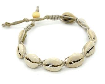Shell Hemp Anklet,  Macrame Anklet, Beach Anklets, Natural Hemp Jewelry