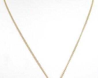 "Christian Dior Vintage CD Pendant Gold Tone Necklace 18"""