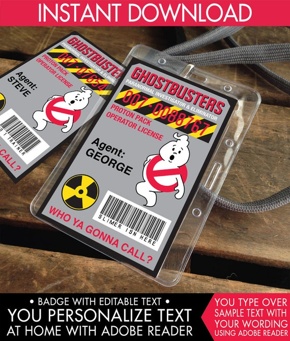 Ghost-buster I.D. Badge,Ghostbusters