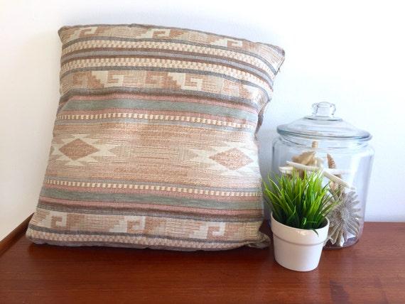 Southwestern Boho Oversized Pillow Muted Pastel Earth Tones
