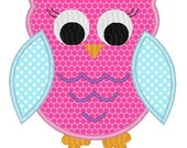 Girl Owl 2 Machine Embroidery Design