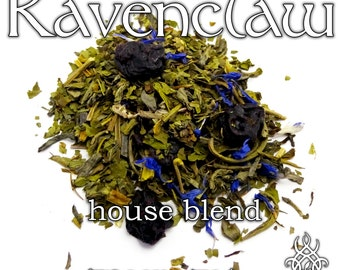 Ravenclaw House Blend - loose leaf green tea, blueberry mint cheesecake, Harry Potter, nerd gift, bibliophile gift, Luna Lovegood