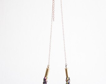 Short Braided Multicolor Necklace