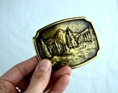 Vintage 1978 BTS Brass Belt Buckle - USA