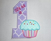 Free Shipping Ready to Ship Cute as a Cupcake Fabric Iron on applique
