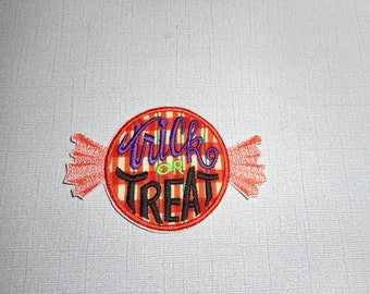 Free Shipping ready to ship  trick or treat candy fabric iron on applique