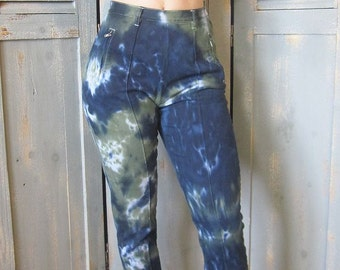 High Waisted Skinny Jeans, Tie Dye, Boho Chic, Altered Couture, Moda International,
