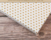 Baby  Book (Pregnancy - 5 years) - Gold Polka Dots  (136 designed journaling pages & personalization included)