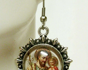 Saint Joseph earrings - AP03-216