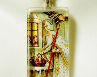Saint Nicholas pendant with chain - GP12-371
