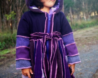 "Size 3 Girls PiXIE COAT  ""Purple People Eater"""