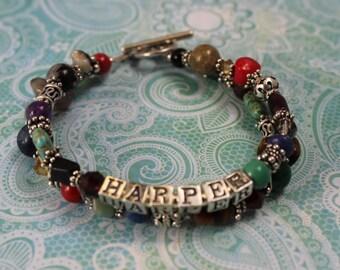 Custom Treasure Style Mother's Name Bracelet