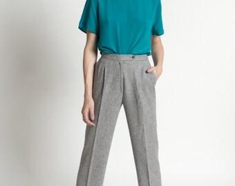Vintage 90s Teal Silk Minimal Short Sleeve Tee | M