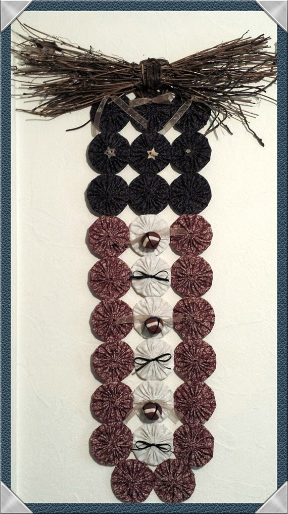 Grapevine Bow Topper, Patriotic Stars & Stripes Banner, Country Americana Theme Yo Yo Door or Wall Hanging with Bells