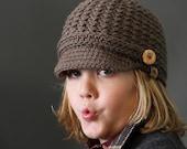 Crochet PATTERN Brookside Crochet Newsboy Hat Pattern